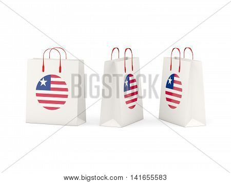 Flag Of Liberia On Shopping Bags