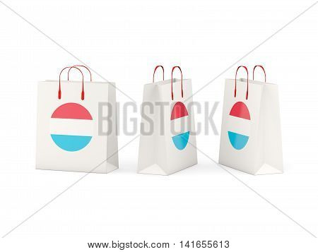 Flag Of Luxembourg On Shopping Bags