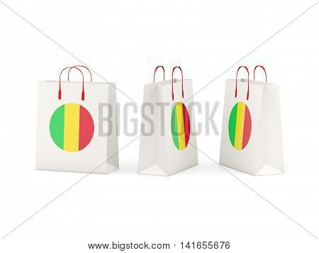 Flag Of Mali On Shopping Bags