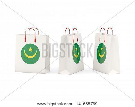 Flag Of Mauritania On Shopping Bags