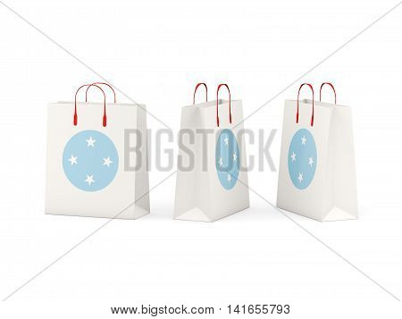 Flag Of Micronesia On Shopping Bags