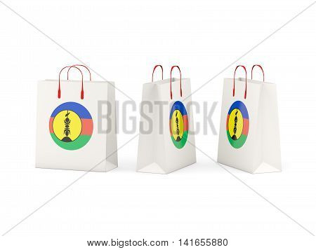 Flag Of New Caledonia On Shopping Bags