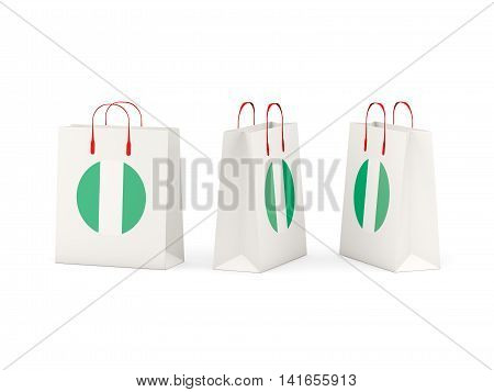 Flag Of Nigeria On Shopping Bags