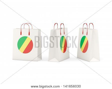 Flag Of Republic Of The Congo On Shopping Bags