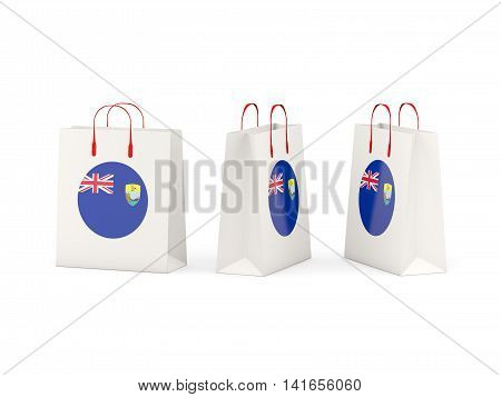 Flag Of Saint Helena On Shopping Bags