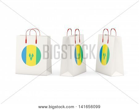 Flag Of Saint Vincent And The Grenadines On Shopping Bags