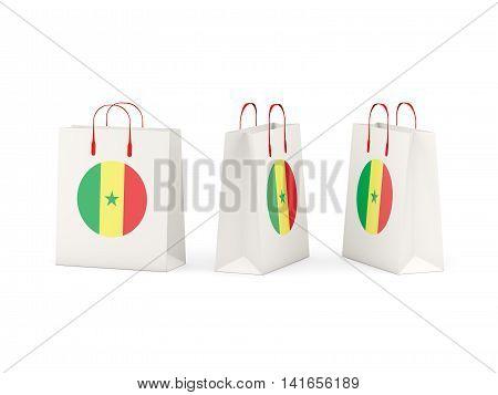 Flag Of Senegal On Shopping Bags
