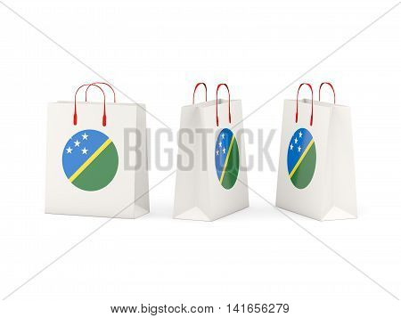 Flag Of Solomon Islands On Shopping Bags