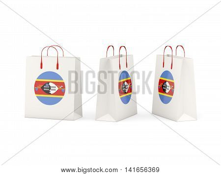 Flag Of Swaziland On Shopping Bags