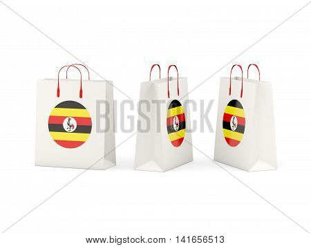 Flag Of Uganda On Shopping Bags