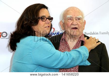LOS ANGELES - AUG 6:  Rosie O'Donnell, Ed Asner at the 4th Annual Ed Asner And Friends Poker Tournament For Autism Speaks at the South Park Center  on August 6, 2016 in Los Angeles, CA