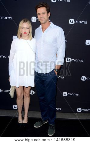 LOS ANGELES - AUG 4:  Majandra Delfino, David Walton at the 4Moms launch self-installing car seat at the Petersen Automotive Museum on August 4, 2016 in Los Angeles, CA
