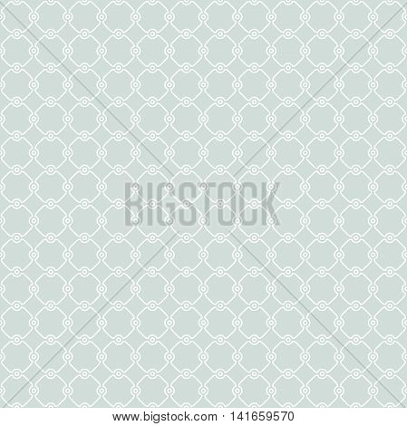 Seamless vector ornament in arabian style. Pattern for wallpapers and backgrounds. Light blue and white pattern