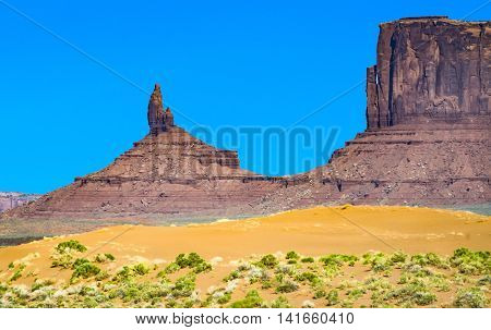 Famous Butte In Monument Valley