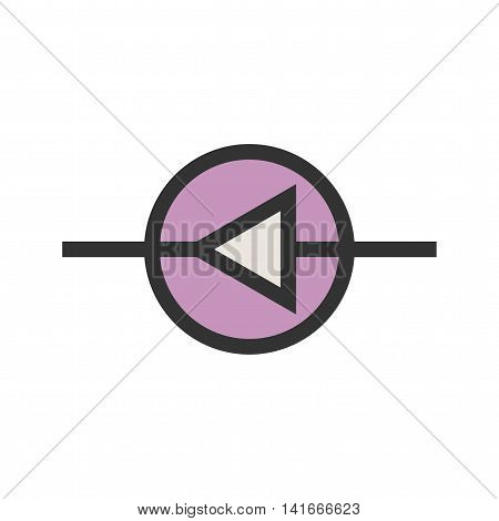 Diode, equipment, technology icon vector image. Can also be used for electric circuits. Suitable for use on web apps, mobile apps and print media.
