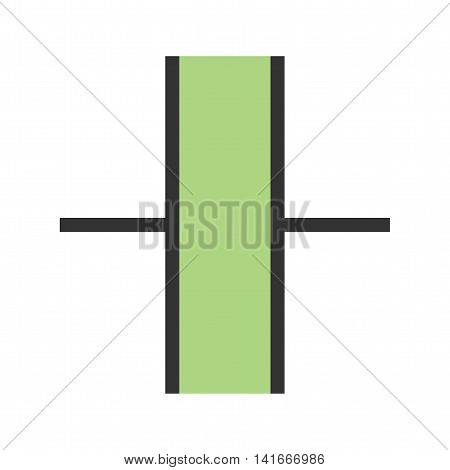 Capacitor, chip, electronic icon vector image. Can also be used for electric circuits. Suitable for use on web apps, mobile apps and print media.