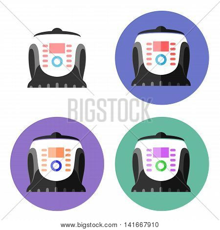 Multi cooker Flat design. Pressure cooker. Vector EPS 10