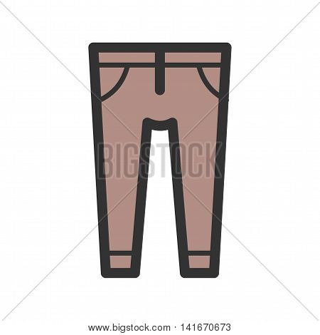 Trousers, fashion, clothes icon vector image. Can also be used for hipster. Suitable for web apps, mobile apps and print media.