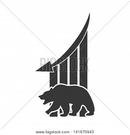 bear infographic profit financial icon. Isolated and flat illustration. Vector graphic
