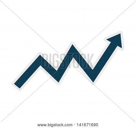 arrow data infographic icon. Isolated and flat illustration. Vector graphic