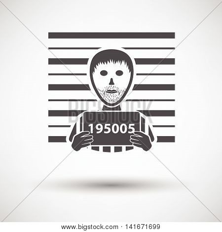 Prisoner In Front Of Wall With Scale Icon