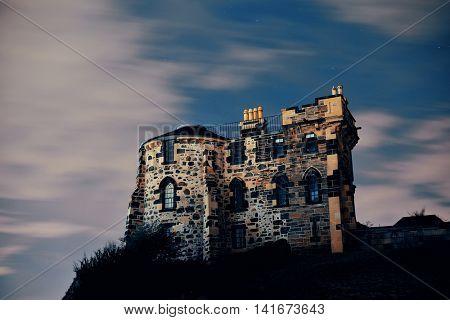 Old building in Calton Hill in Edinburgh, United Kingdom.