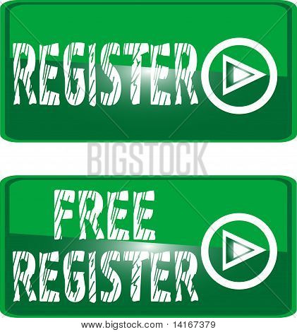 green button sign free register