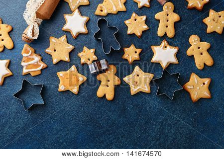 Christmas Gingerbread Cookies And Cutters
