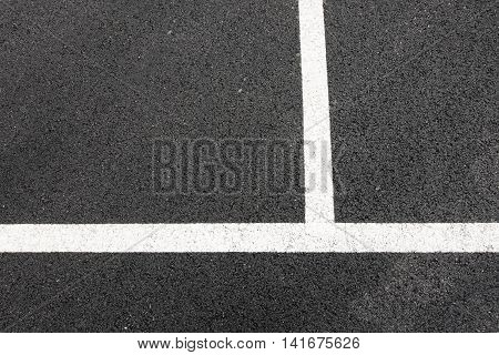 Perpendicular lines on asphalt background, Asphalt texture.