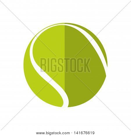 tennis ball hobby sport  icon. Isolated and flat illustration. Vector graphic