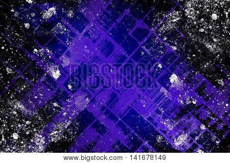 art grunge blue ragged abstract pattern illustration background