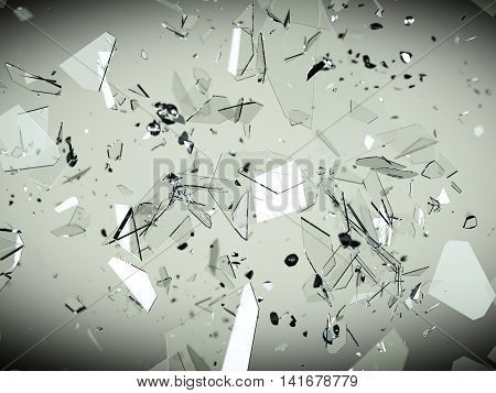 Splitted Or Cracked Glass Pieces