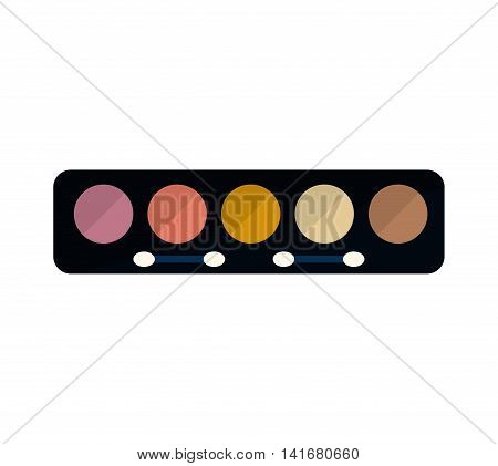 eye shadows make up style product icon. Isolated and flat illustration. Vector graphic