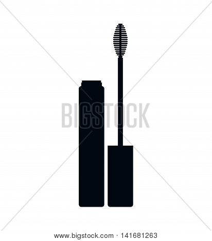mascara make up style product icon. Isolated and flat illustration. Vector graphic