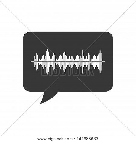 equalizer bubble music sound melody icon. Isolated and flat illustration. Vector graphic