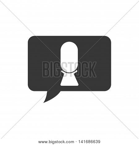 microphone bubble music sound melody icon. Isolated and flat illustration. Vector graphic