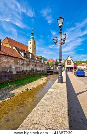 Town of Samobor architecture vertical view northern Croatia