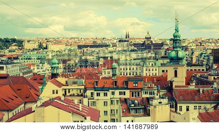 Cityscape of Prague, Czech Republic