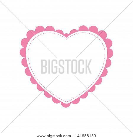 heart love romatic passion icon. Isolated and flat illustration. Vector graphic