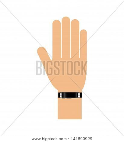 watch hand wearable technology gadget icon. Isolated and flat illustration. Vector graphic