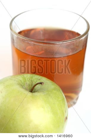 Green Apple And Glass Of Juice
