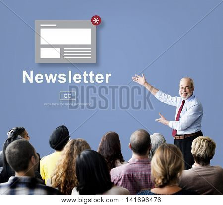 Newsletter Announcement Broadcast Article Concept