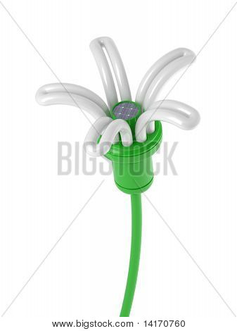renewable energy - flower lamp