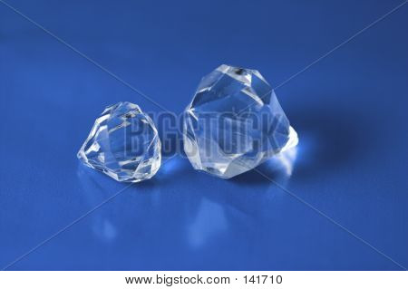 Diamonds On Blue