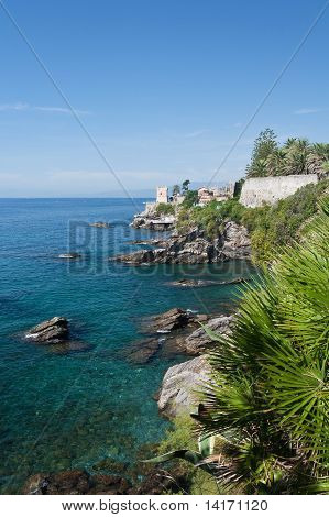 Coastline In Genova Nervi