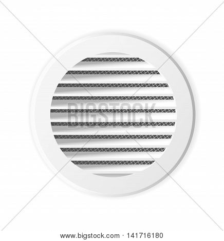 Round ventilation grill. Isolated illustration. Vector. Ventilation frame
