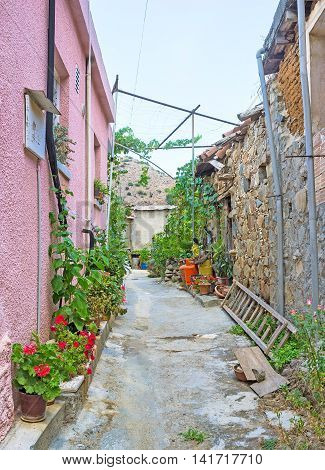 The maze of the streets in the mountain village is the best place to get lost for some hours Gourri Cyprus.