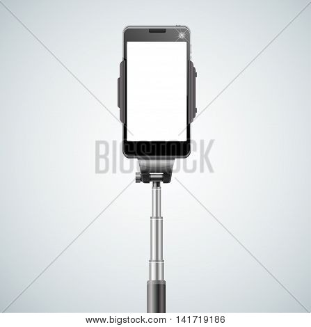 Monopod Selfie Front for Self Portrait. Vector illustration