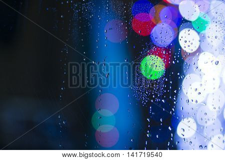 Colorful Rain Bokeh