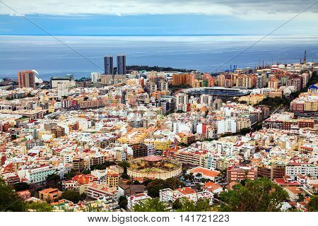 aerial view of Santa Cruz de Tenerife Canary Islands Spain